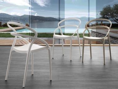 Stackable open back polypropylene chair PILAR