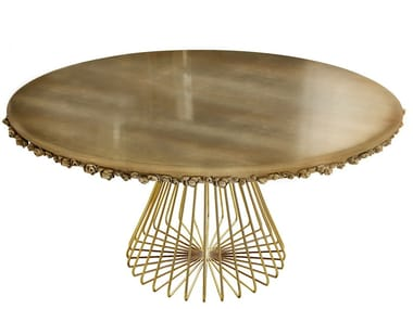Round wooden dining table PILAR | Table