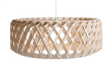 Plywood pendant lamp PILKE 80