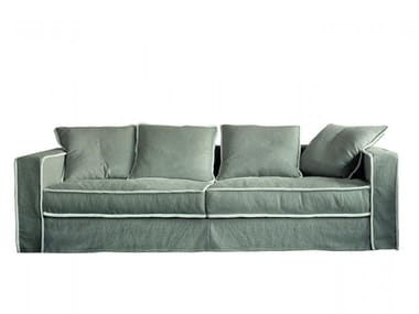 Fabric sofa with removable cover PILLOPIPE | Sofa