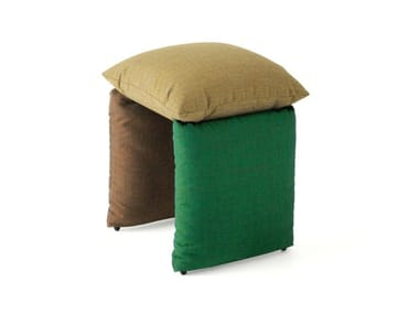 Upholstered fabric stool PILLOW 219