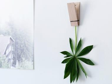 Wall-mounted oak coat rack PINCH