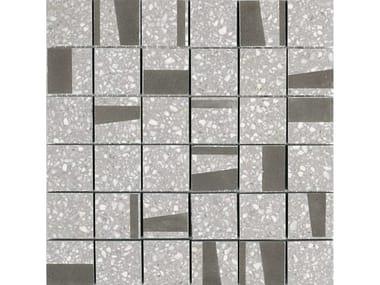 Mosaico in gres porcellanato PINCH | Mosaico Quad Light Grey