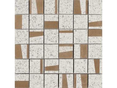 Mosaico in gres porcellanato PINCH | Mosaico Quad White