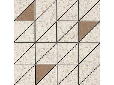 Mosaico in gres porcellanato PINCH | Mosaico Triangolo Beige Lux
