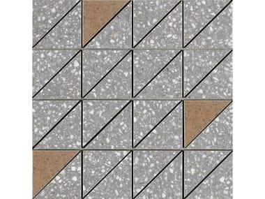 Mosaico in gres porcellanato PINCH | Mosaico Triangolo Dark Grey Lux