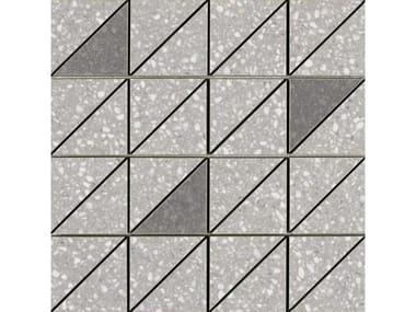 Mosaico in gres porcellanato PINCH | Mosaico Triangolo Light Grey Lux