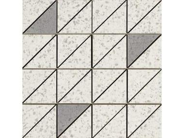 Mosaico in gres porcellanato PINCH | Mosaico Triangolo White Lux