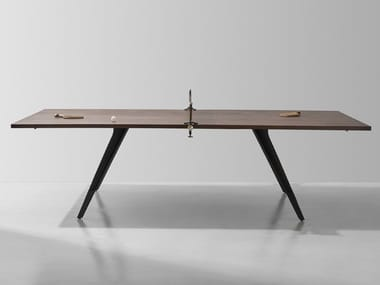 Mesa de ténis de mesa retangular de ferro fundido Mesa de ténis de mesa