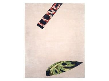 Tapete feito à mão em fibra de bambu PINK