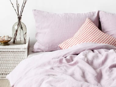 Washed linen Bed Set PINK LAVENDER | Bedding set
