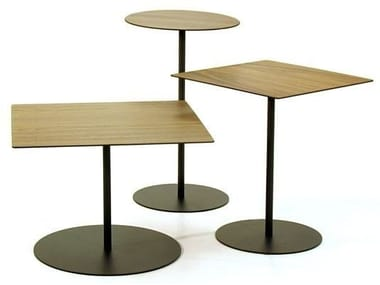 Steel and wood table PINOCCHIO   Steel and wood table