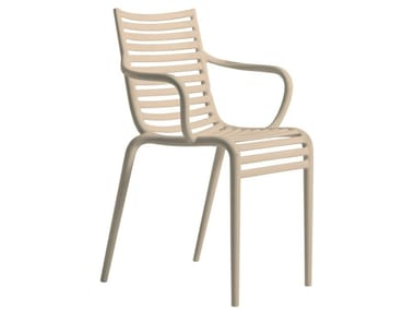 Polypropylene chair with armrests PIP–E   Chair with armrests