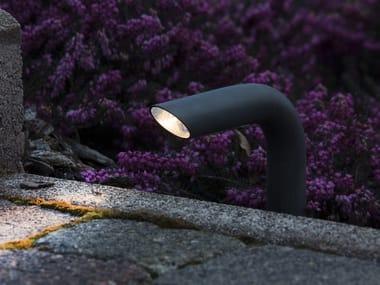 Paletto luminoso a LED in ottone PIPA