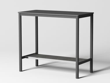 Rectangular steel and MDF top high table PIPE | High table