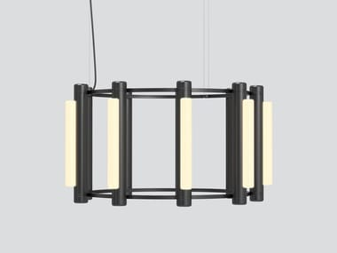 LED aluminium and acrylic pendant lamp PIPELINE CHANDELIER  2