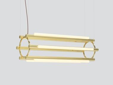Lampada a sospensione in alluminio e acrilico PIPELINE CHANDELIER 4