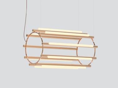 Lampada a sospensione in alluminio e acrilico PIPELINE CHANDELIER 5