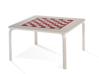 Square birch chess table PIPPA | Game table