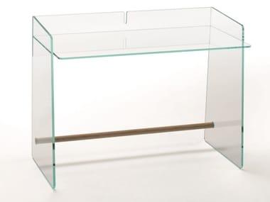 Scrivania rettangolare in cristallo PIRANDELLO