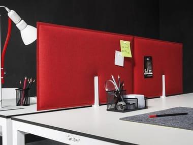 Sound absorbing fabric desktop partition PIUMA