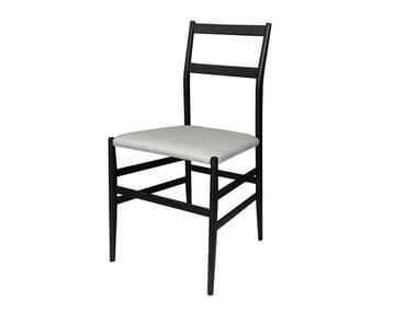 Upholstered ash chair PIUMA | Chair