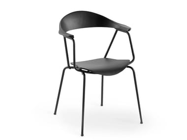 Stackable chair with armrests PIUN