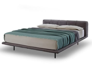 Fabric double bed with upholstered headboard PIXEL AIR