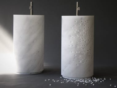 Lavabo freestanding rotondo in marmo PIXEL