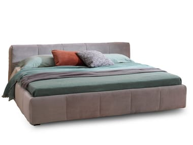 Upholstered fabric storage bed PIXEL BOX
