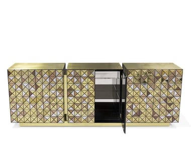 Aluminium sideboard with doors PIXEL | Sideboard