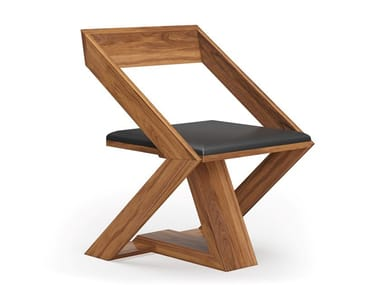 Wood veneer chair with integrated cushion PIXEL