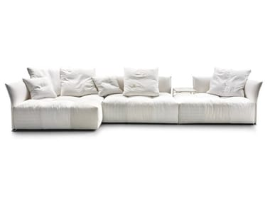 Sectional fabric sofa with removable cover PIXEL | Sofa