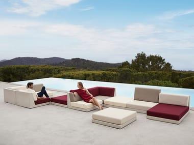 Modular fabric garden sofa PIXEL