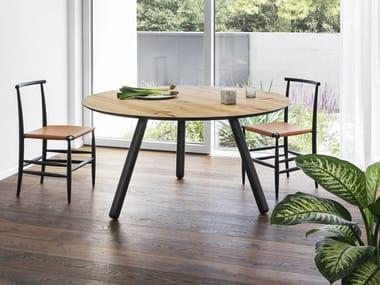 Runder Tisch aus Holz PIXIE | Runder Tisch