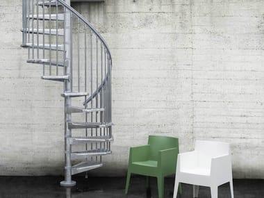 Outdoor galvanized steel Spiral staircase PIXIMA STEEL ZINK