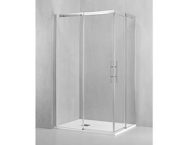 Box doccia angolare con porta scorrevole PL-ASC + PL-ASC