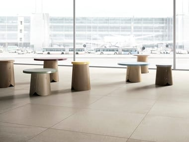 Anti-slip porcelain stoneware wall/floor tiles with concrete effect with resin effect PLAIN CORE