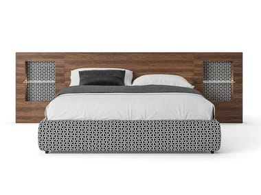 Double bed with integrated nightstands PLAN