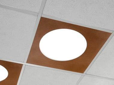 Lampada per controsoffitti a LED in lamiera PLANA SQUARE   Lampada per controsoffitti