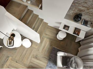 Indoor/outdoor porcelain stoneware flooring with wood effect PLANCHES DE REX