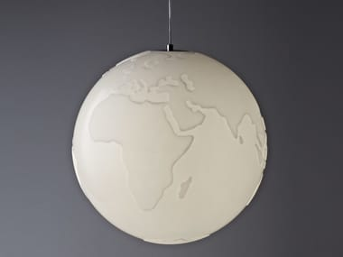 Polyurethane pendant lamp PLANET EARTH