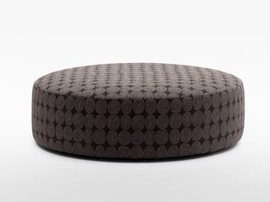Round fabric pouf with removable lining PLANET