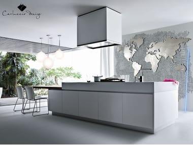 Orologio in acciaio in stile moderno da parete PLANISFERO 4XL | Orologio