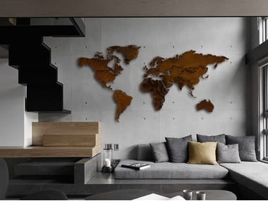 Corten™ wall decor item PLANISFERO CORTEN®