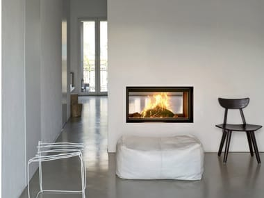 Double-sided wood-burning built-in fireplace PLASMA 95B WOOD
