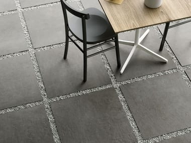 Pavimento per esterni in gres porcellanato a tutta massa effetto cemento PLASTER20