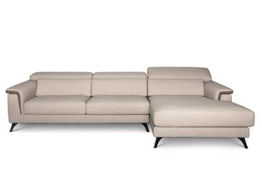 Divano reclinabile in tessuto con chaise longue PLATEALE 02