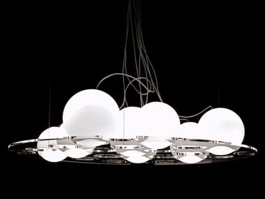 Blown glass pendant lamp PLATEAU - 476/486