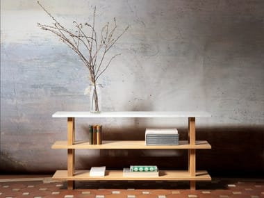 Rectangular marble console table GRANDE CONSOLE | Marble console table